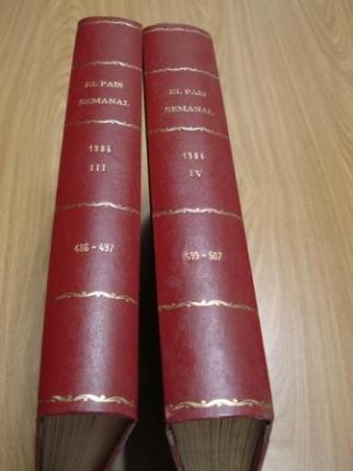 EL PAÍS SEMANAL. 1986 (Encuadernado en 2 tomos). Tomo I: Números 486 a 497 / Tomo II: Números 499 a 507 - Ver os detalles do produto