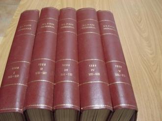 EL PAÍS SEMANAL. 1988 (Encuadernado en 5 tomos). Tomo I: Números 560 a 572/ Tomo II: Números 573 a 581/ Tomo III: Números 582 a 590 / Tomo IV: Números 591 a 603 / Tomo V: Números 604 a 612 - Ver os detalles do produto