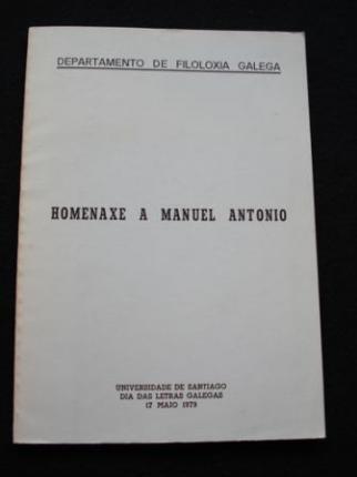 Departamento de Filoloxía Galega. Homenaxe a Manuel Antonio - Ver os detalles do produto