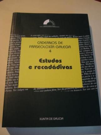 Cadernos de fraseoloxía galega. Nº 4: Estudos e recadádivas - Ver os detalles do produto