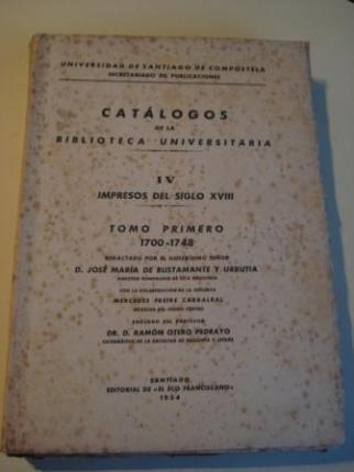 CATÁLOGOS DE LA BIBLIOTECA UNIVERSITARIA.  V - Impresos del siglo XIX. Tomo primero: 1800-1849 - Ver os detalles do produto